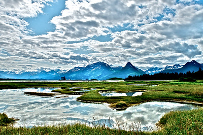 White Clouds Reflected in the Water - Valdez, Alaska
