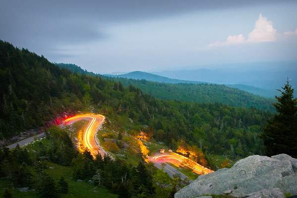 End of The Day -The Last Cars Out of Grandfather Mountain
