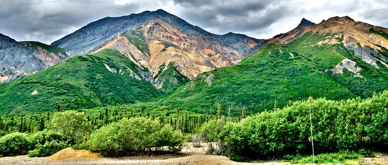 Colorful Mountains - The Glenn Highway, Alaska