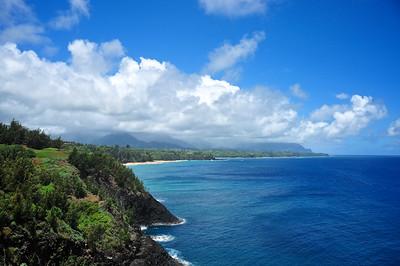 Rain shower Over The Mountains - Kauai