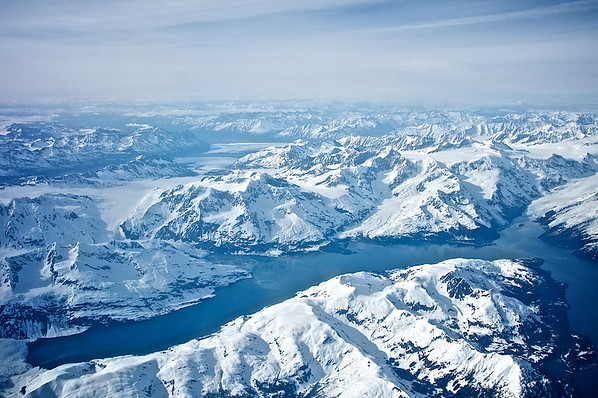 Glacier and Lake - Chugach Mountains, Alaska