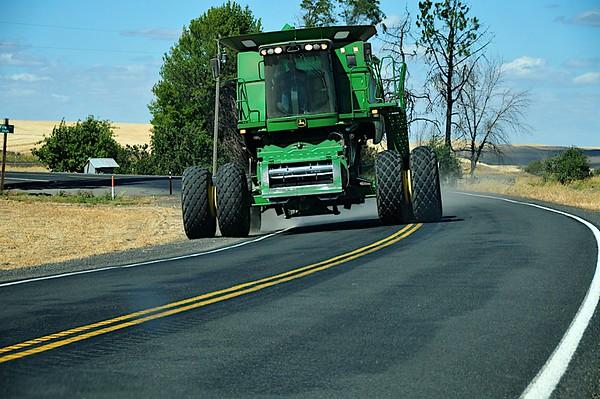 Make Way - Big Harvester - HWY 27, WA