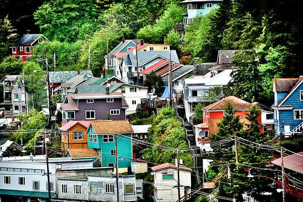 Houses In A Row - Ketchikan, Alaska