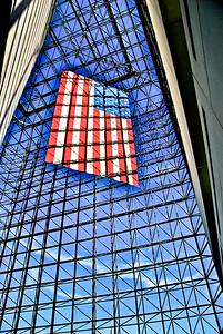 US Flag At The JFK Library - Boston, MA