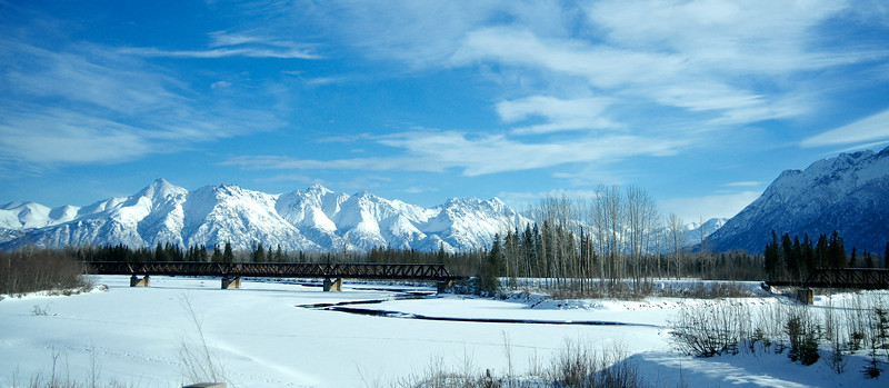 Railroad Crossing Stream - Chugach Mountains, Alaska