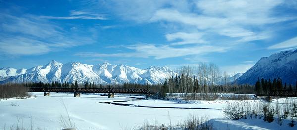 Railroad Crossing Stream - Chugach Mountains, Alaska