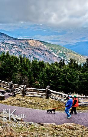 Walking Down From Mt. Mitchell, North Carolina