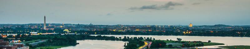Washington, DC - Panorama at Dusk