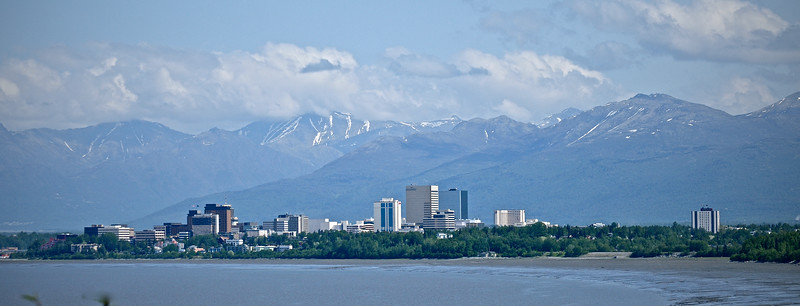 Downtown Anchorage In The Summer - Alaska