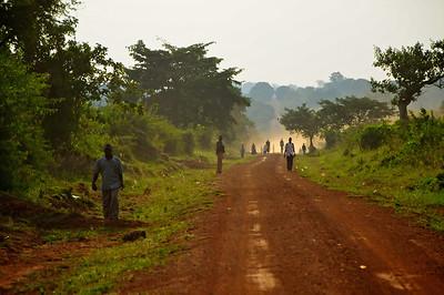 Walking On The Dusty Country Road, Uganda