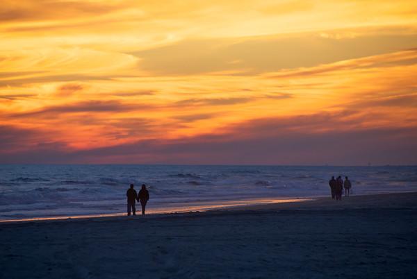 Sunset Walk On The Beach - Atlantic Beach, NC