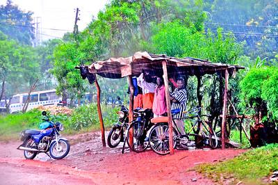 Waiting For The Rain To Stop - Jinja, Uganda