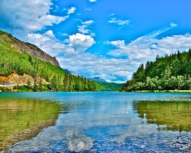 Reflections In A Lake - Along The Glenn Highway, Alaska