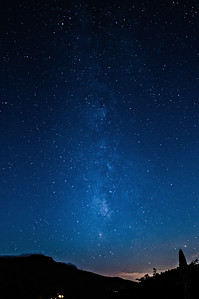 Night Sky-Milky Way Over Grandfather Mountain