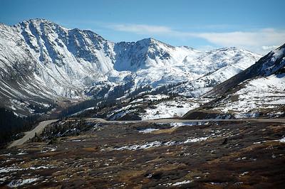 Winding Road Near Loveland Pass - Colorado