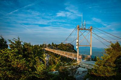 Grandfather Mountain-Swinging Bridge at Sunrise