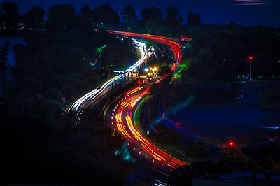 Washington, DC - Traffic at Night