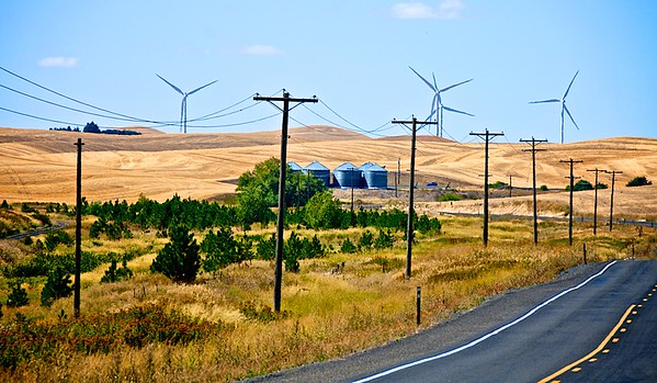Wind Power - HWY 27 South of Spokane, WA