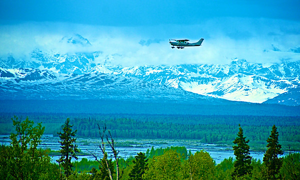 View of Mt. McKinley from Talkeetna, Alaska