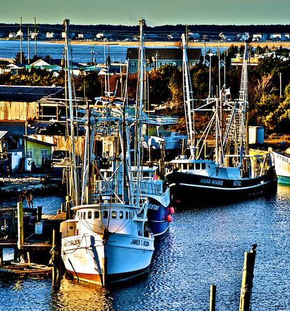 Fishing Trawlers In The Harbor - Beaufort, NC