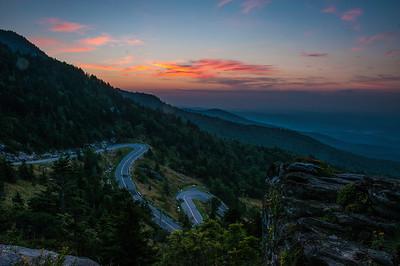 Grandfather Mountain Runrise - Winding Road