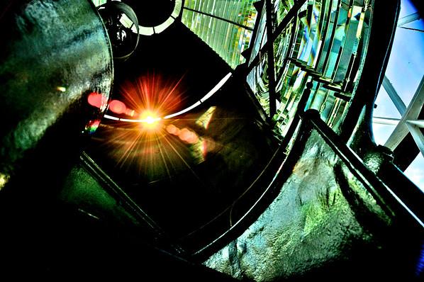 Sunlight Refraction From The Jupiter Inlet Lighthouse Lens - Jupiter Florida