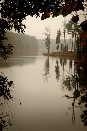 Gray Day On Falls Lake - North Carolina