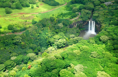 Large Waterfall, Kauai
