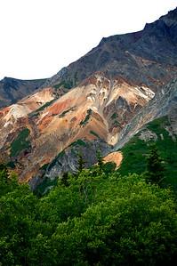 Colorful Mountain Side - The Glenn Highway - Alaska