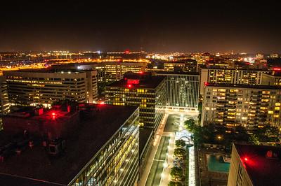 Arlington, VA - Buildings at Night