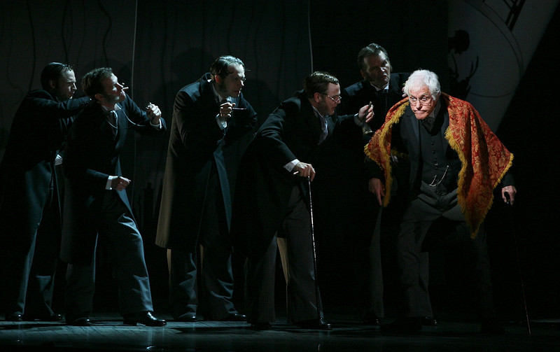 """LOS ANGELES, CA - JANUARY 22: Actor Dick Van Dyke (star of the original Disney motion picture) makes a guest appearance in the national tour of the Disney and Cameron Mackintosh production of """"Mary Poppins"""" at the Center Theatre Group's Ahmanson Theatre on January 22, 2010 in Los Angeles, California. (Photo by Ryan Miller/Capture Imaging)"""