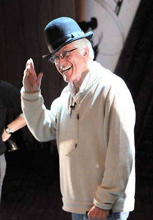 "LOS ANGELES, CA - JANUARY 22: Actor Dick Van Dyke practices during the rehearsal for a performance of Disney and Cameron Mackintosh's ""Mary Poppins"" at the Center Theatre Group's Ahmanson Theatre on January 22, 2010 in Los Angeles, California. (Photo by Ryan Miller/Capture Imaging)"
