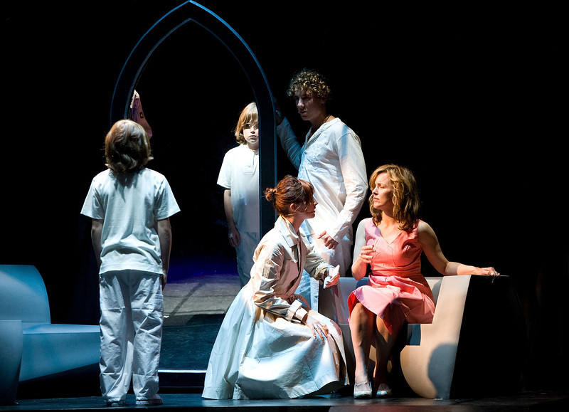 LOS ANGELES, CA - JUNE 14: (L-R) Cast members actors LJ Benet, Anna Schnaitter, Aleks Pevec and Alice Ripley perform The Who's Tommy held at the Ricardo Montalban Theatre on June 14, 2008 in Los Angeles, California.  (Photo by Ryan Miller/Capture Imaging)