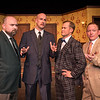 "Shaie Williams for AGN Media. Amarillo Little Theatre  presents ""The Musical Comedy Murders of 1940"". left to right. Michael Newman (O'Reilly), Zeke Lewis (Kelly),  Brooks Boyett (Eddie) and Dennis Humphrey (Ken)  Photo taken at ALT Mainstage in Amarillo TX on January 9, 2018."