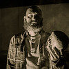 "Amarillo Little Theatre presents ""A Skull in Connemara"" Patrick Burns as Mick Dowd with the skull. October 29, 2018 [Shaie Williams for Amarillo Globe News]"