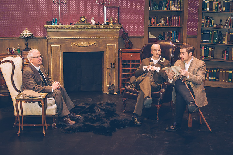 "Amarillo Little Theatre presents "" Baskerville"" a Sherlock Holmes Mystery. Jeffrey Pickens, Zeke Lewis and Brandon Dawson are part of the cast.  [Shaie Williams for Amarillo Globe News]"