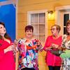 """Shaie Williams for AGN Media. ALT presents """"The Savannah Shipping Society.  Carrie Huckabay as """"Jinx""""on the left, Kim Shreffler as """"Marlafaye"""",  Anne Lankford as """"Dot"""" and Holly Czuchna as """"Randa"""" on far right at ALT inAmarillo, TX. on February 20, 2018"""