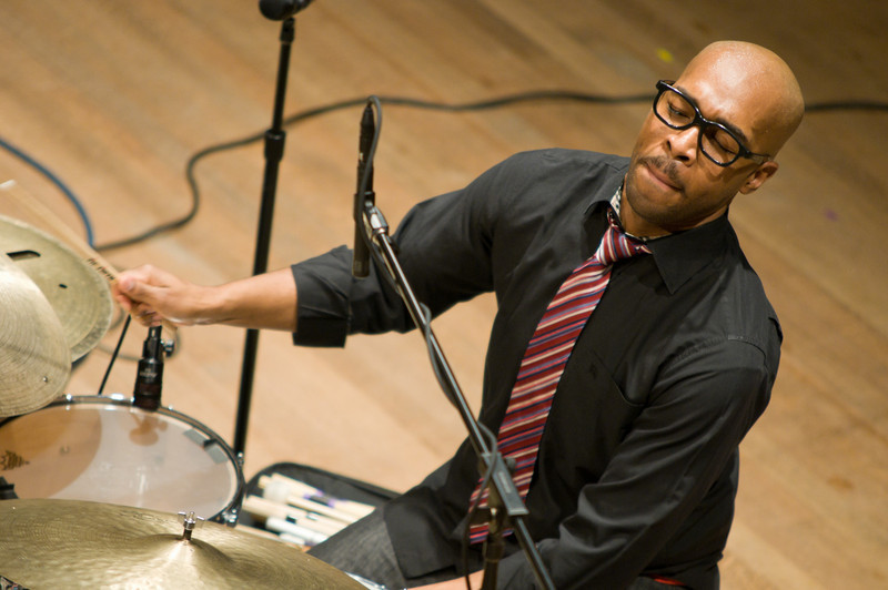 (02/17/11) The Eric Harland drummer plays at Skidmore's Ladd Hall. Shot for Skidmore College Communications Department.