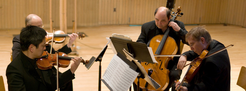 (2009/02/28) The Hawthorne String Quartet performs at Skidmore College. Shot for Skidmore News