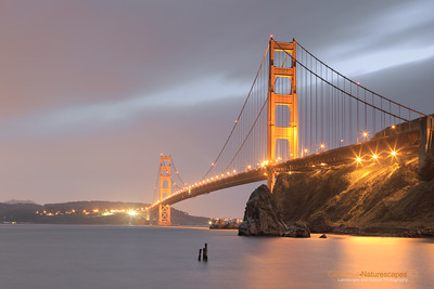 Golden Gate: A Foggy Evening