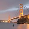 Golden Gate: A Foggy Evening