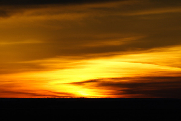 Dawn on the prairie south of Eston Saskatchewan