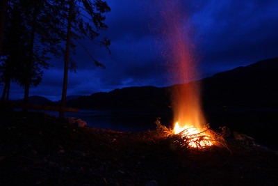 Campfire photo taken at Egmont (West Coast of BC) during my dive instructor training
