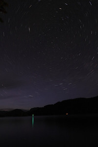 Star trails photo taken at Egmont (West Coast of BC) during my dive instructor training