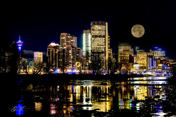 Calgary Supermoon (12x18) - BESTSELLER!