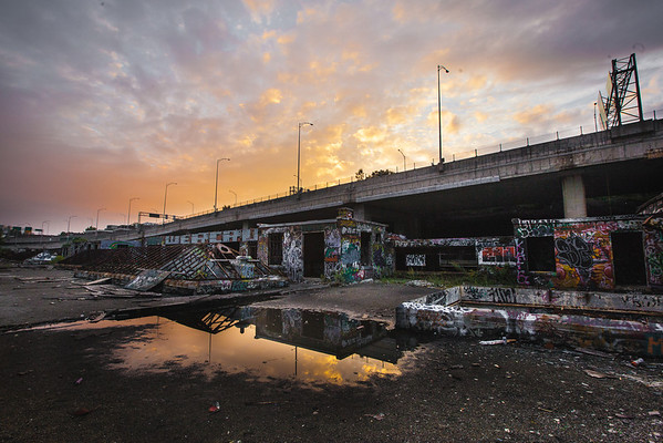 Abandoned sunset, Montreal
