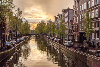 Clouds over canal, Amsterdam
