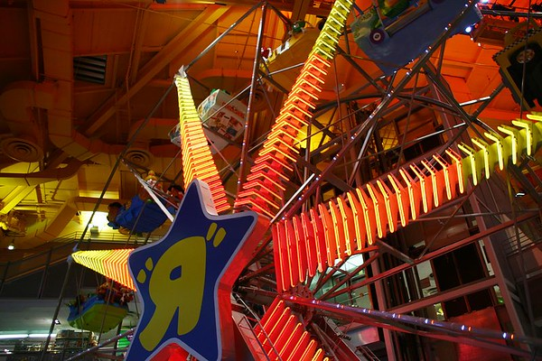 The Toys R Us store in Times Square, New York City has its own 3-story ferris wheel inside the store.