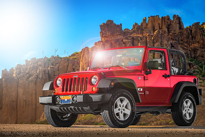 Jeep Wrangler X 4x4. This car was photographed and retouched in Tempe, Arizona.