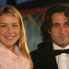 A atriz Luana Piovani e o empresário Ricardo Mansur na pré-estréia do filme Narnia, em Londres, 2005
